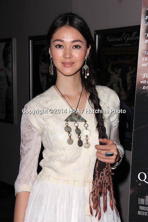 """LOS ANGELES - NOV 21:  Elina Abai Kyzy at the """"The Key"""" Premiere at the Laemmle's Music Hall on November 21, 2014 in Beverly Hills, CA"""