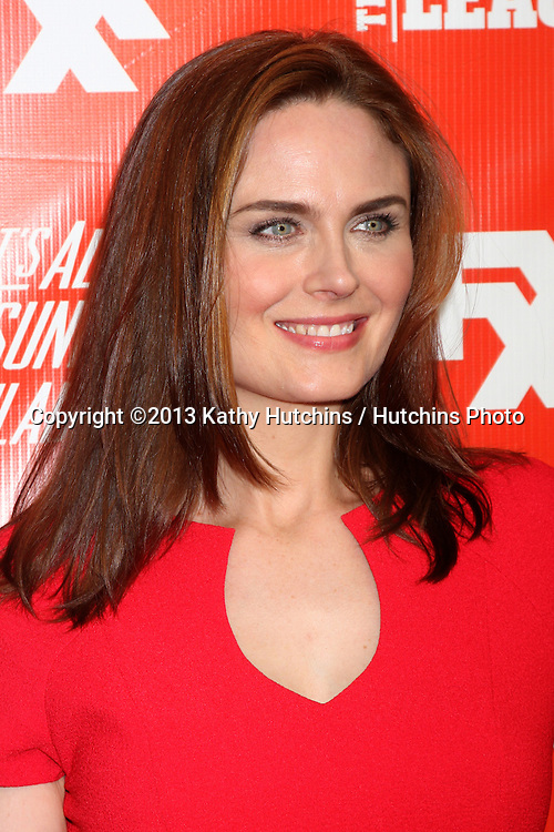 "LOS ANGELES - SEP 3:  Emily Deschanel at the FXX Network Launch Party And Premieres For ""It's Always Sunny In Philadelphia"" And ""The League"" at the Lure on September 3, 2013 in Los Angeles, CA"