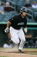 April 13, 2009:  Right Fielder Hunter Mense of the Jupiter Hammerheads, Florida State League Class-A affiliate of the Florida Marlins, during a game at Roger Dean Stadium in Jupiter, FL.  Photo by:  Mike Janes/Four Seam Images