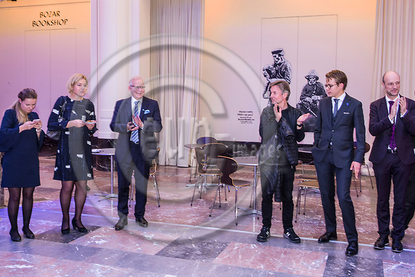 BRUSSELS - BELGIUM - 27 September 2017 -- Finland 100th Anniversary Reception and Concert of the Philharmonia Orchestra of London at the BOZAR. -- Esa-Pekka Salonen, Conductor of the Philharmonia Orchestra of London. -- PHOTO: Juha ROININEN / EUP-IMAGES