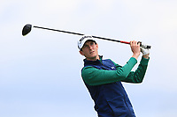 Tiarnan McLarnon (Massereene) on the 10th tee during Round 4 of The East of Ireland Amateur Open Championship in Co. Louth Golf Club, Baltray on Monday 3rd June 2019.<br /> <br /> Picture:  Thos Caffrey / www.golffile.ie<br /> <br /> All photos usage must carry mandatory copyright credit (© Golffile | Thos Caffrey)