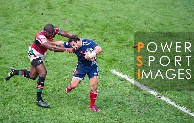 Kenya play France on Day 2 of the Cathay Pacific / HSBC Hong Kong Sevens 2013 on 23 March 2013 at Hong Kong Stadium, Hong Kong. Photo by Victor Fraile / The Power of Sport Images