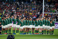 27th October 2019, Oita, Japan;  South Africa players line up during the 2019 Rugby World Cup semi-final match between Wales and South Africa at International Stadium Yokohama in Kanagawa, Japan on October 27, 2019.  - Editorial Use