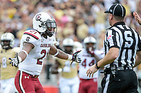 September 28, 2013 - Orlando, FL, U.S: South Carolina Gamecocks linebacker Marcquis Roberts (21) reacts after a penalty call during 1st half NCAA football game action between the South Carolina Gamecocks and the UCF Knights at Bright House Networks Stadium in Orlando, Fl