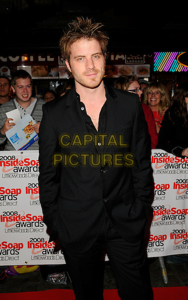 ROBERT KAZINSKY.Arrivals at the Inside Soap Awards, Gilgamesh Restaurant, The Stables, Chalk Farm Road, Camden, London, england..September 29th, 2008.half length rob black suit hands in pockets  .CAP/CAN.©Can Nguyen/Capital Pictures.