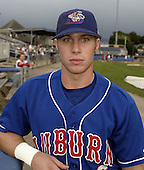 August 23, 2004:  Catcher Curtis Thigpen of the Auburn Doubledays, Short-Season Single-A affiliate of the Toronto Blue Jays, during a game at Dwyer Stadium in Batavia, NY.  Photo by:  Mike Janes/Four Seam Images