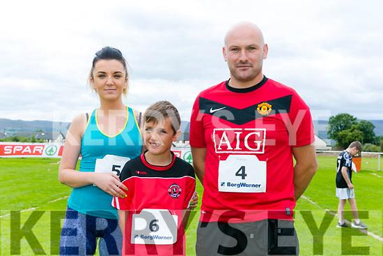 Enjoying the St Brendan's Park FC  5K run and family fun day at Christy Leahy Park on Sunday were Monika Wojtalik, Patrick Wojtalik, Luke Wojtalik