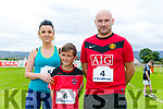 Enjoying the St Brendan's Park FC  5K run and family fun day at Christy Leahy Park on Sunday were Monika Wojtalik, Patrick Wojtalik, Luke Wojtalik