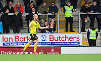 Burton Albion's Liam Boyce celebrates scoring the opening goal <br /> <br /> Photographer Chris Vaughan/CameraSport<br /> <br /> The EFL Sky Bet League One - Burton Albion v Blackpool - Saturday 16th March 2019 - Pirelli Stadium - Burton upon Trent<br /> <br /> World Copyright &copy; 2019 CameraSport. All rights reserved. 43 Linden Ave. Countesthorpe. Leicester. England. LE8 5PG - Tel: +44 (0) 116 277 4147 - admin@camerasport.com - www.camerasport.com
