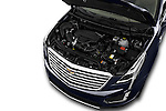 Car Stock 2017 Cadillac XT5 AWD-Platinum 5 Door SUV Engine  high angle detail view