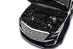 Car Stock 2017 Cadillac XT5 AWD-Platinum 5 Door SUV Engine  high angle detail view
