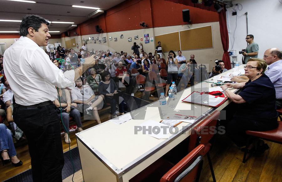 SAO PAULO, SP, 04 AGOSTO 2012 - ELEICOES SP - FERNANDO HADDAD - Luiza Erundina deputada Federal em apoio ao candidato à prefeitura de São Paulo pelo PT Fernando Haddad durante encontro no Sindicato dos Químicos na Liberdade em São Paulo (SP), na tarde deste sábado, 04. FOTO: VANESSA CARVALHO / BRAZIL PHOTO PRESS)