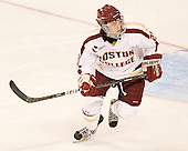 Steven Whitney (BC - 21) - The visiting Merrimack College Warriors tied the Boston College Eagles at 2 on Sunday, January 8, 2011, at Kelley Rink/Conte Forum in Chestnut Hill, Massachusetts.