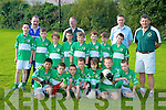The Legion team who competed in the Glenflesk U10 football blitz on Saturday pictured with mentors Declan Walsh, Mike Pierce, James O'Neill and Mike Leahy.. Peter Mc Carthy, Ryan O'Neil,, John Coffey, Luke O'Donoghue, Cian Gammel, James O Callaghan, Michael Pierse, Michael O'Donoghue, Christopher Sweetman, Mike Cronin, Daniel Devlin, Stephen Walsh, Gavin Moriarty, Conor Leahy.  Coaches  Mike Leahy, Mike Pierse, Declan Walsh, James O'Neill.   Copyright Kerry's Eye 2008