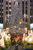 The Christmas Tree at Rockefeller Center.