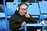Ian (Moose) Abrahams of Talk Sport radio during Colchester United vs Mansfield Town, Sky Bet EFL League 2 Football at the Weston Homes Community Stadium on 7th October 2017