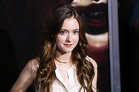 HOLLYWOOD, LOS ANGELES, CA, USA - SEPTEMBER 29: Hayley McFarland arrives at the Los Angeles Premiere Of New Line Cinema's 'Annabelle' held at the TCL Chinese Theatre on September 29, 2014 in Hollywood, Los Angeles, California, United States. (Photo by Xavier Collin/Celebrity Monitor)
