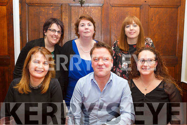 Slattery's Travel Tralee having a night out in the Denny Lane Restaurant on Saturday night last.<br /> Seated l-r, Ingrid Klement, Steve O&rsquo;Grady, Lisa Kerins, Zerenea Scully, Suzanne O&rsquo;Connor and Michelle Barron
