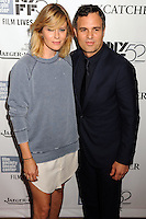 NEW YORK CITY, NY, USA - OCTOBER 10: Sunrise Coigney, Mark Ruffalo arrive at the 52nd New York Film Festival - 'Foxcatcher' Premiere held at Alice Tully Hall on October 10, 2014 in New York City, New York, United States. (Photo by Celebrity Monitor)