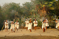 Dancers at the recreation of an ancient Mayan market, Sacred Mayan Journey 2011 event, Riviera Maya, Quintana Roo, Mexico
