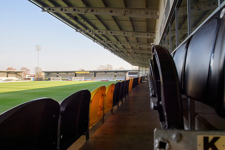 A general view of Pirelli Stadium, home of Burton Albion FC<br /> <br /> Photographer Chris Vaughan/CameraSport<br /> <br /> The EFL Sky Bet League One - Saturday 23rd February 2019 - Burton Albion v Fleetwood Town - Pirelli Stadium - Burton upon Trent<br /> <br /> World Copyright © 2019 CameraSport. All rights reserved. 43 Linden Ave. Countesthorpe. Leicester. England. LE8 5PG - Tel: +44 (0) 116 277 4147 - admin@camerasport.com - www.camerasport.com