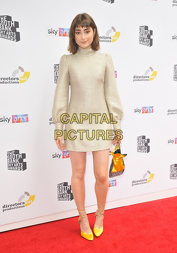 Ellise Chappell at the South Bank Sky Arts Awards 2019, The Savoy Hotel, The Strand, London, England, UK, on Sunday 07th July 2019.<br /> CAP/CAN<br /> ©CAN/Capital Pictures