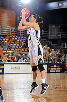 21 January 2012:  FIU guard Fanni Hutlassa (10) shoots a jump shot in the second half as the Florida Atlantic University Owls defeated the FIU Golden Panthers, 50-49, at the U.S. Century Bank Arena in Miami, Florida.
