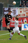 GER - Sandhausen, Germany, March 19: During the 2. Bundesliga soccer match between SV Sandhausen (white) and FC ST. Pauli (grey) on March 19, 2016 at Hardtwaldstadion in Sandhausen, Germany. (Photo by Dirk Markgraf / www.265-images.com) *** Local caption *** Soren Gonther #26 of FC St. Pauli in action