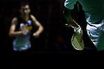 Yonex Australian Badminton Open 2013. Serving for the match during a men's singles game. Sydney, Australia. Wednesday, April 3rd 2013. Photo: (Steve Christo).