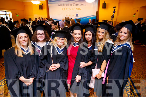 Maire Hanrahan (Ballybunion), Christine Poff (Knocknagohsel), Magdalena Nowak (Tralee), Lira Hoxha (Tralee), Aoife Looney (Killorglin), Nicole McEllistrim (Castleisland) and Sharon Walsh (Castleisland), all who graduated in Informations Systems Management from IT Tralee, at the Brandon Conference Centre, Tralee on Friday last.