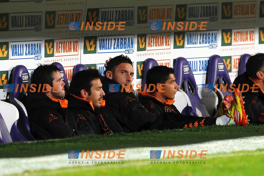 Francesco TOTTI in panchina.Firenze 04/12/2011 Stadio Artemio Franchi.Football Calcio Serie A 2011/2012.Fiorentina Vs Roma.Foto Insidefoto Andrea Staccioli