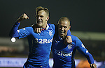 Dean Shiels celebrates his goal with fellow scorer Kenny Miller