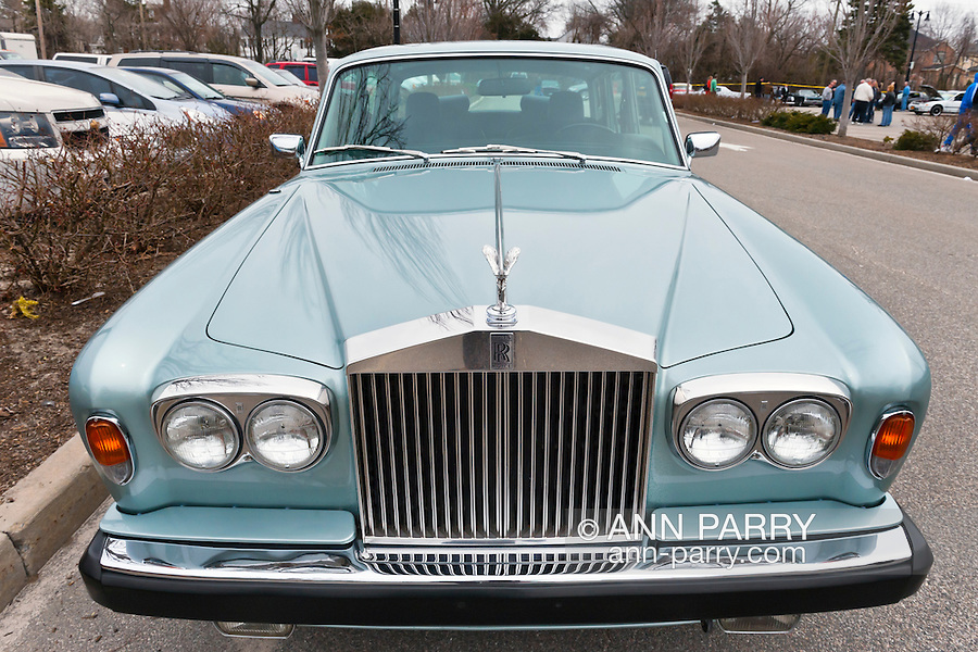 March 31, 2013 - Garden City, New York, U.S. - The owner of this Silver Mink 1978 Rolls Royce Silver Shadow II came as a spectator to the 58th Annual Easter Sunday Vintage Car Parade and Show sponsored by the Garden City Chamber of Commerce. Hundreds of authentic old motorcars, 1898-1988, including antiques, classic, and special interest participated in the parade.