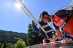 Vincenzo Nibali (ITA) Bahrain-Merida at sign on before the start of Stage 18 of the 100th edition of the Giro d'Italia 2017, running 137km from Moena to Ortisei/St. Ulrich, Italy. 25th May 2017.<br /> Picture: LaPresse/Gian Mattia D'Alberto | Cyclefile<br /> <br /> <br /> All photos usage must carry mandatory copyright credit (&copy; Cyclefile | LaPresse/Gian Mattia D'Alberto)
