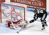 Kieran Millan (BU - 31), Ross Mauermann (PC - 14) - The Boston University Terriers defeated the visiting Providence College Friars 6-1 on Friday, January 20, 2012, at Agganis Arena in Boston, Massachusetts.