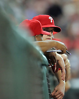 Phillies pitcher Kyle Kendrick on Friday May 23rd at Minute Maid Park in Houston, Texas. Photo by Andrew Woolley / Four Seam Images.