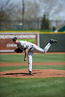 Wisconsin Timber Rattlers starting pitcher Aaron Ashby (26) during a Midwest League game against the Great Lakes Loons at Dow Diamond on May 4, 2019 in Midland, Michigan. Great Lakes defeated Wisconsin 5-1. (Zachary Lucy/Four Seam Images)