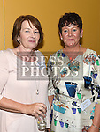 Breda Kearney and Detta Melia at the Ardee CS Leaving Cert Class of 1976 reunion in Ardee Golf Club. . Photo:Colin Bell/pressphotos.ie