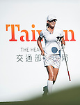 Beln Mozo of Spain tees off on the 17th hole during the day one of the Sunrise LPGA Taiwan Championship at the Sunrise Golf Course on October 25, 2012 in Taoyuan, Taiwan. Photo by Victor Fraile / The Power of Sport Images