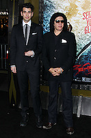 "HOLLYWOOD, LOS ANGELES, CA, USA - MARCH 04: Nick Simmons, Gene Simmons at the Los Angeles Premiere Of Warner Bros. Pictures And Legendary Pictures' ""300: Rise Of An Empire"" held at TCL Chinese Theatre on March 4, 2014 in Hollywood, Los Angeles, California, United States. (Photo by Xavier Collin/Celebrity Monitor)"