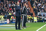 PSG coach Unai Emery during Eight Finals Champions League match between Real Madrid and PSG at Santiago Bernabeu Stadium in Madrid , Spain. February 14, 2018. (ALTERPHOTOS/Borja B.Hojas)