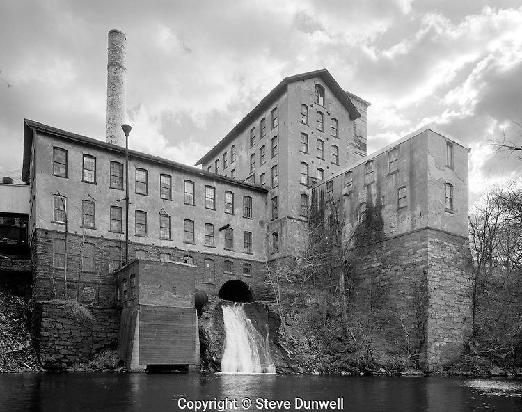 """Rockville mill, Hockanum River, Rockville, CT from """"The Run of the Mill."""""""
