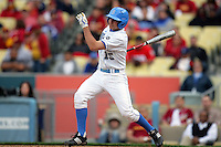 February 28 2010: Juan Uribe of UCLA during game against USC at Dodger Stadium in Los Angeles,CA.  Photo by Larry Goren/Four Seam Images