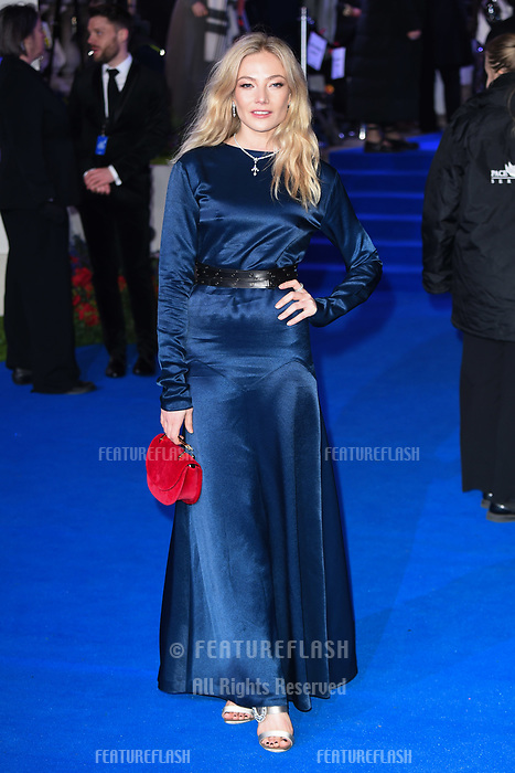 """LONDON, UK. December 12, 2018: Clara Paget at the UK premiere of """"Mary Poppins Returns"""" at the Royal Albert Hall, London.<br /> Picture: Steve Vas/Featureflash"""