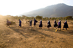 TANZANIA. Longido Mountain Area..August 2nd 2009..Maasai people..