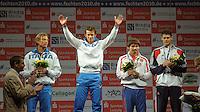 European Championships Fencing 2010 / Fecht Europameisterschaft 2010 in Leipzig - Competition Championat d'europe - im Bild: Herren Florett / men foil - Finale - 1. Andrea Baldini (ITA)  2. Valerio Aspromonte (ITA, left) - 3. Renal Ganeev (RUS) and Richard Kruse (GB)  . Foto: Norman Rembarz..Norman Rembarz , Autorennummer 41043728 , Augustenstr. 2, 04317 Leipzig, Tel.: 01794887569, Hypovereinsbank: BLZ: 86020086, KN: 357889472, St.Nr.: 231/261/06432 - Jegliche kommerzielle Nutzung ist honorar- und mehrwertsteuerpflichtig! Persönlichkeitsrechte sind zu wahren. Es wird keine Haftung übernommen bei Verletzung von Rechten Dritter. Autoren-Nennung gem. §13 UrhGes. wird verlangt. Weitergabe an Dritte nur nach  vorheriger Absprache..
