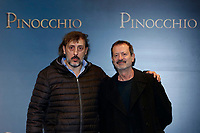 Massimo Ceccherini as 'the fox' and Rocco Papaleo as 'the cat'<br /> Rome December 12th 2019. Pinocchio Photocall in Rome<br /> Foto Samantha Zucchi Insidefoto