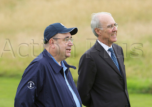 26.08.2012 Gleneagles, Scotland. .Alex Salmond First Minister  with Ptrick Elsmie of Gleneagles  during the final day of the Johnnie Walker Championship from Gleneagles  PGA Centenary Golf Course.