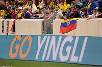 Yingli. The men's national team of the United States (USA) was defeated by Ecuador (ECU) 1-0 during an international friendly at Red Bull Arena in Harrison, NJ, on October 11, 2011.