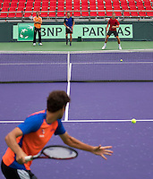 Moscow, Russia, 14 th July, 2016, Tennis,  Davis Cup Russia-Netherlands, Dutch team practise, <br /> Photo: Henk Koster/tennisimages.com